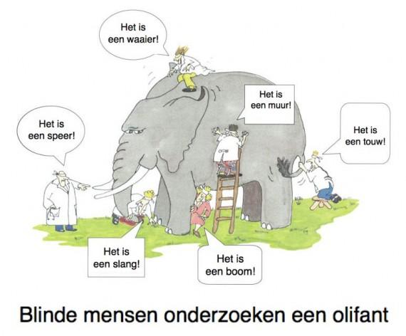 Blinde-mensen-onderzoeken-een-olifant.-Het-verhaal-van-de-blinde-mannen-en-de-olifant-570x472